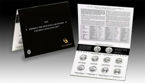 2011 P and D America the Beautiful Quarters Uncirculated US Mint 10 Coin ATB Set