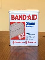 Band-Aid Metal Collectible Tin Johnson & Johnson Made in USA