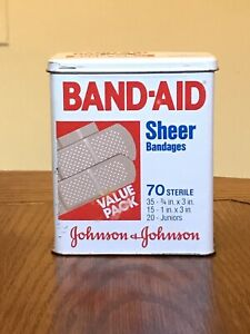 Band-Aid Metal Collectible Tin Johnson & Johnson Made in USA