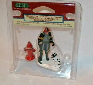 NEW, Lemax Figurine, Fireman and  his dog, Accessory Village Christmas Holiday