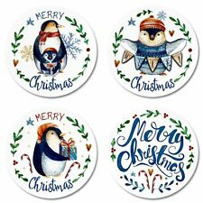 12 MERRY CHRISTMAS CHRISTMAS PENGUIN SEALS STICKERS USA MADE #43 FAST SHIPPING!