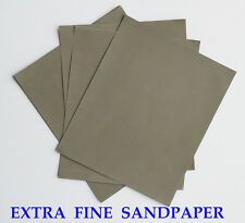 "10 sheets EXTRA FINE Sandpaper Wet or Dry MATADOR  3""x 5 1/2""  5000 Grit"