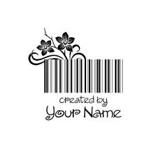 PERSONALIZED HANDLE MOUNTED SCRAPBOOK NAME CRAFT CUSTOM RUBBER STAMP C84