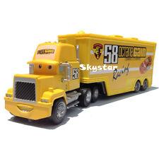 Disney Pixar Movie No.58 Octane Gain Racer's Hauler Mack Truck Trailer Cars Toy