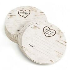 Hortense B Hewitt Woodgrain Design Coasters Pack of 25 33251 Guest Books NEW