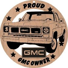 1978 GMC Pickup Truck Wood Ornament Engraved