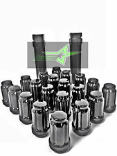 16 BLACK SPLINE TUNER RACING LUG NUTS | 12X1.5 | FITS MOST JDM HONDA ACURA |