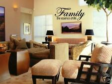 FAMILY ESSENCE OF LIFE Wall Art Vinyl Decal Decor Quote