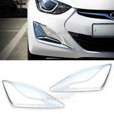 Chrome Front Fog Lamp Cover Garnish Molding for HYUNDAI 2014-2016 Elantra MD