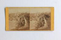Biarritz Port Dei Peccatori Stereo di Carta Albume D'Uovo Vintage C 1875
