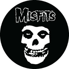 CHAPA/BADGE MISFITS Logo . black flag danzig circle jerks ramones zero boys punk
