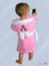 Süße Baby - Kinder Bademantel Mädchen Rosa mit Kapuze Kuschelweich