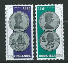 Islas Cook SG492/3 1974 el capitán Cook's segundo viaje estampillada sin montar o nunca montada