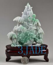 A Grade Natural Jadeite Jade Bamboo Shoots Statue / Carving w/ certificate
