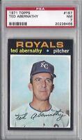 1971 Topps baseball card #187 Ted Abernathy, Kansas City Royals graded PSA 7 NM