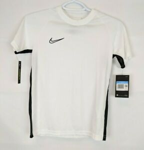 Nike Kids Academy Short Sleeve Soccer Top, White, Boys Medium