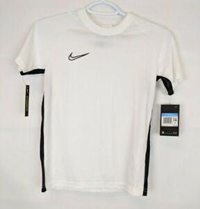 Nike Kids Academy Short Sleeve Soccer Top, White, Boys Medium