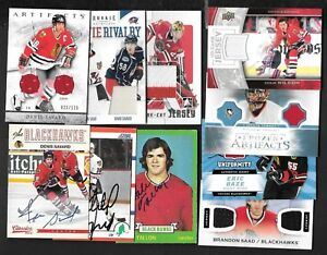 CHICAGO BLACK HAWKS AUTOGRAPH JERSEY NHL HOCKEY CARD SEE LIST