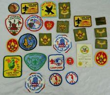 Vintage Lot 25 BSA Boy Scouts of America Arm Uniform Patches 4 Merit Badge Cards