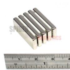 5 Strong N52 Grade Magnets 25x10x3 mm Neodymium block magnet 25mm x 10mm x 3mm