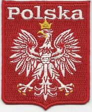 POLSKA/POLAND FOOTBALL/SOCCER PATCH IRON ON OR SEW ON WORLD CUP 2018