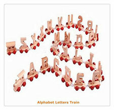 Brand New Wooden Alphabet Personalised Name Train Letters Kids Children Toy Gift