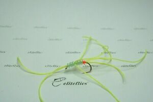eliteflies 12 apps bloodworm pulling worms fly fishing flies pink Chartreuse