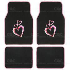 Love Story Designer Floor Mats - Premium Carpet Material - 4pc Front & Rear