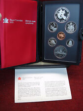 "1983 CANADA  - ""DOUBLE DOLLAR PROOF SET"" - SUPER SET W/LEATHER HOLDER & MORE"