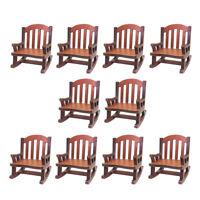 10x 1/12 Scale Dollhouse Miniature Furniture Rocking Chair Model Decors Supplies