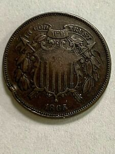 1865 Two Cent Piece - Higher Grade