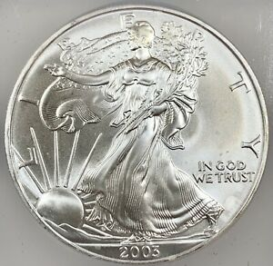 2003 United States 1oz Silver Eagle - ICG MS69