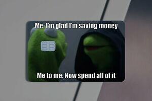 Kermit Jedi Meme | Meme | Credit Card Sticker | Credit Card Skin |