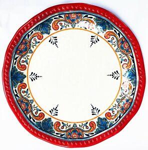 "Tommy Bahama Large Serving Platter Irregular Round 100% Melamine Celestial 19"""