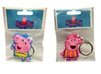 Peppa Pig and George Keyring Peppa Pig TV SHOW Official 3D Rubber Childrens