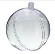 Fillable Clear Baubles-200 X 6cm Clear Plastic Craft Baubles-Cheapest On eBay