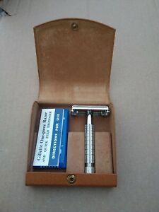 Vintage Gillette Safety Razor Made In England Brit Pat 694093