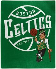 "NBA Boston Celtics Royal Plush Raschel Throw Blanket Size 50"" X 60"""