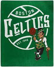 "NBA Boston Celtics Royal Plush Raschel Throw Blanket Size 50"" X 60"""