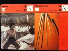 Sportscaster Cards Karate Bruce Lee & Martial Arts Long Arms...2 Cards!!!
