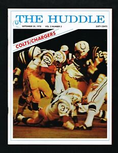 1970 Baltimore Colts vs San Diego Chargers The Huddle NFL Football Program