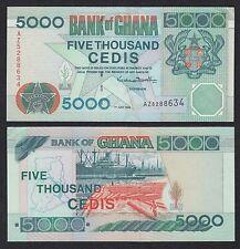 Ghana 5000 Cedis  1-7-1999  Pick 34d   SC- = AU