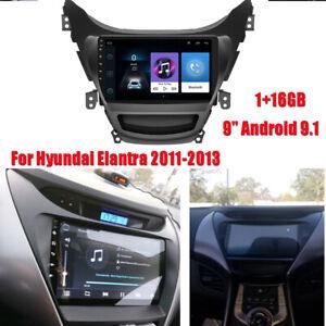 9'' Android 9.1 Car Stereo Radio 1+16GB GPS Navi Wifi For Hyundai Elantra 11-13