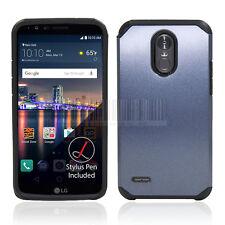 Hybrid Rubber Case Shockproof Hard Armor Phone Cover For LG Stylo 3/Stylo 3 Plus