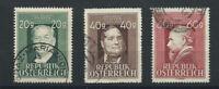 Autriche N°694/95 Obl (FU) 1948 - Compositeur et Peintre