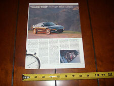 1991 TOYOTA MR2 TURBOCHARGED - ORIGINAL ARTICLE