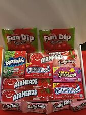 Very Cherry 🍒 American Sweet Gift Box  -Wonka Laffy taffy -Air head -Fun dip