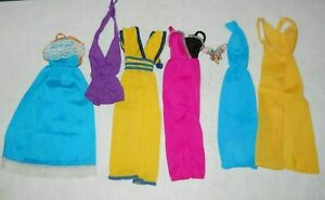 Vintage Doll Barbie Lot SUPERSTAR Fashions 1970s Clothing Mixed Gowns Tricot TLC
