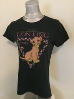 Walt Disney Lion King Simba Women's T Shirt Petite Large Black Short Sleeve