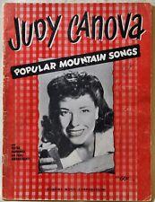 Judy Canova Popular Mountain Songs Songbook Guitar Harmonica Yodel Arrangements